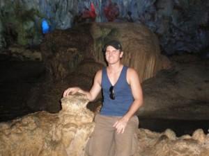 backpacking halong bay caves