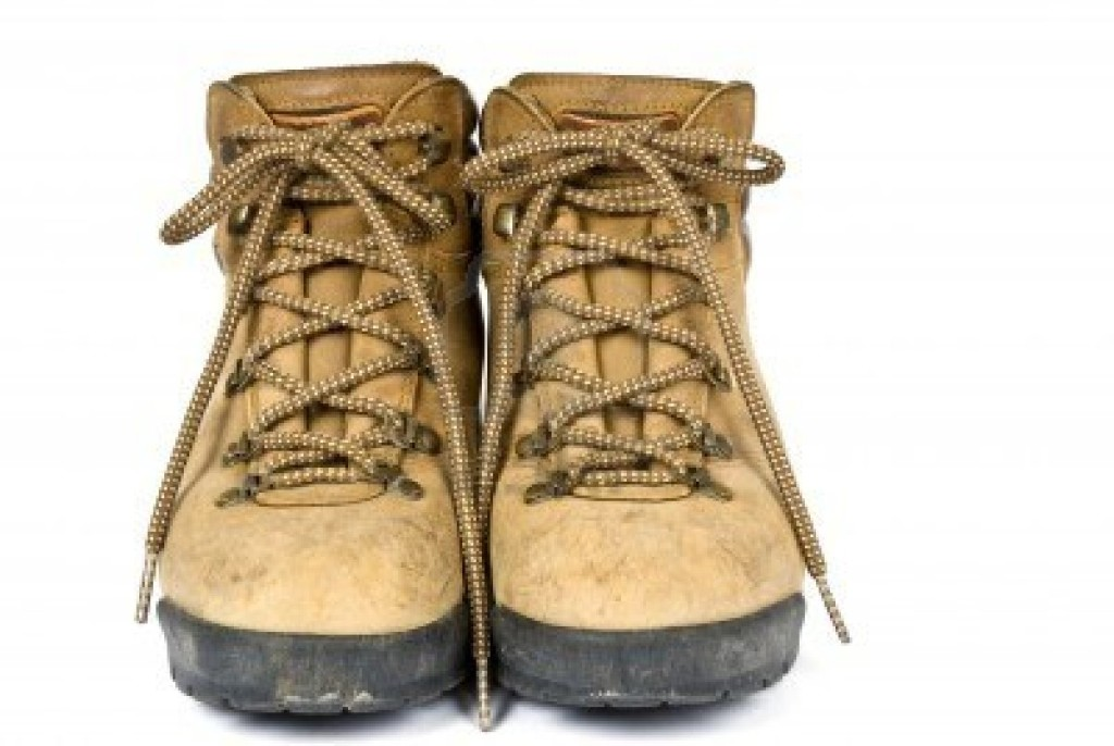 heavy hiking boots