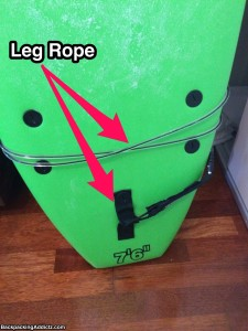 surfing leg rope